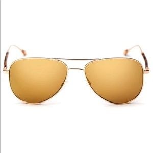 Oliver Peoples Gold Polarized Aviator Sunglasses